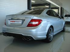 2011 Mercedes-Benz C63 AMG Coupe - Rear 3/4